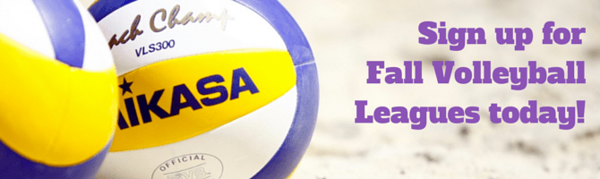 Sign up for Fall Volleyball Leagues
